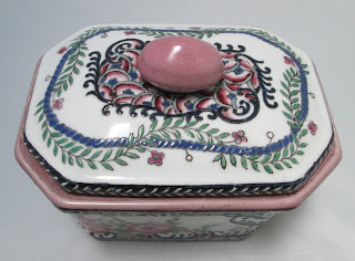 Chinese Pottery Covered Box 4196-lid view-