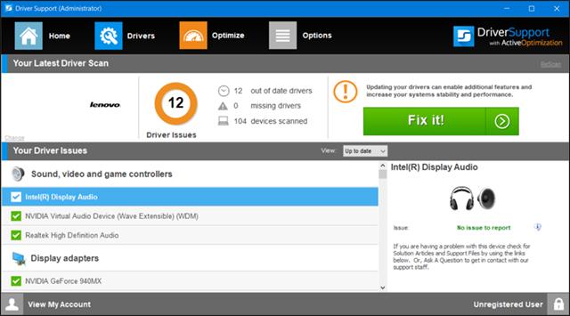 برنامج Driver Support لتحميل وتحديث التعريفات للكمبيوتر