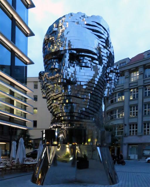 K (Franz Kafka's Head) by David Černý, Quadrio Shopping Center, Spálená, Nové Město, Prague