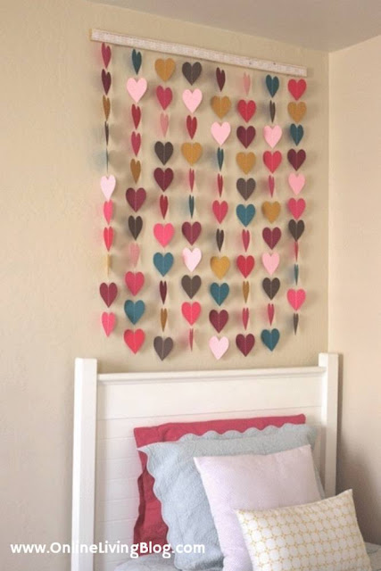 Paper Heart Wall Art: DIY Home Decor