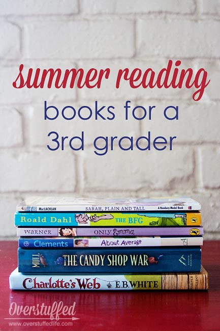 Age appropriate summer reading book ideas for a 3rd grader