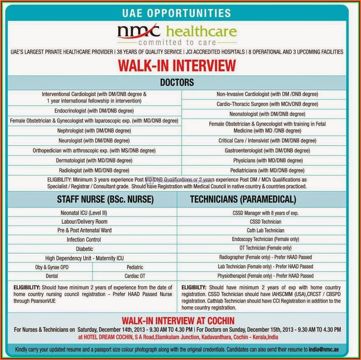 Walk In Interview For Uae Gulf Jobs For Malayalees