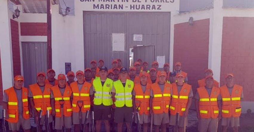 Personal militar continúa con arreglo de Instituciones Educativas para inicio del Año Escolar en Huaraz - www.ejercitodelperu.mil.pe