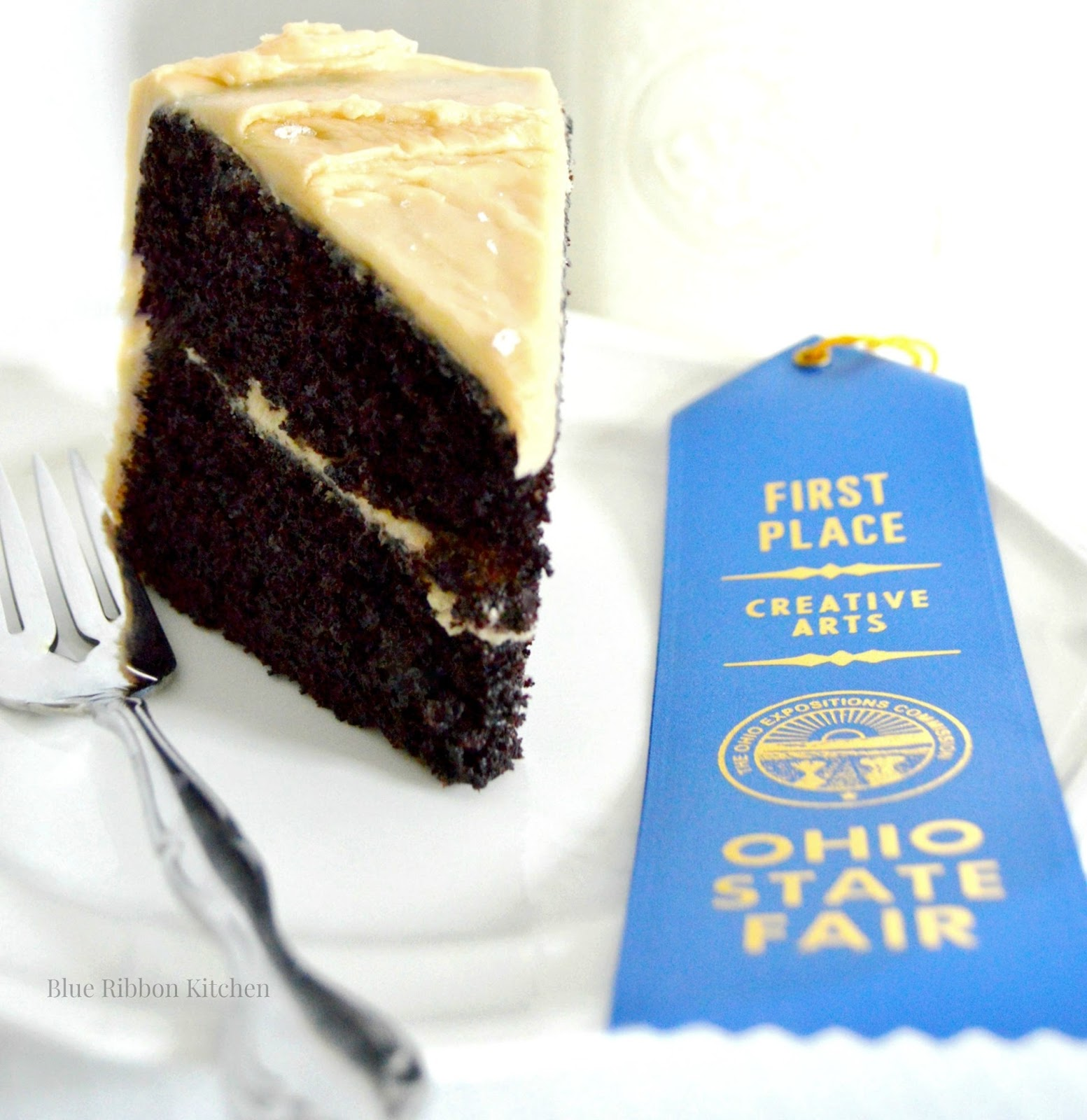 Blue Ribbon Kitchen Lucky Salted Caramel Dark Chocolate Cake