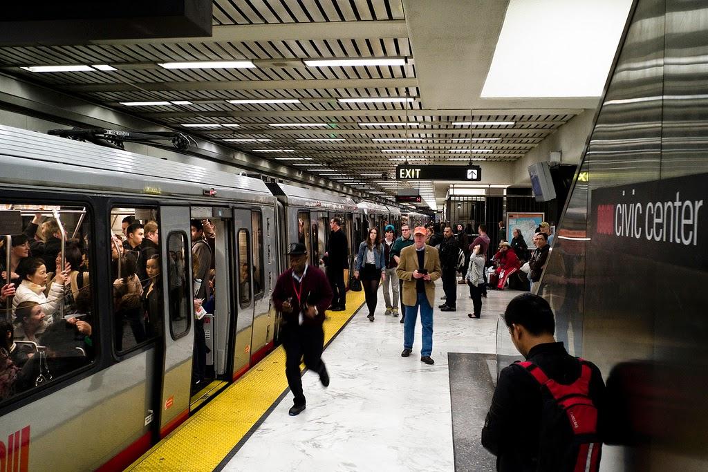 Metrô em San Francisco na Califórnia