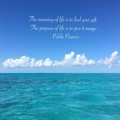 swimwear, inspiration, the florida keys, the keys, ramrod key, looe key national marine sancuary, save the reefs, reef, snorkeling, coral reef, sharks, pablo picasso, quotes, the meaning of life, the purpose of life, your gift,