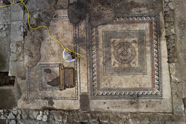 Stunning Roman mosaics unearthed under construction site in France