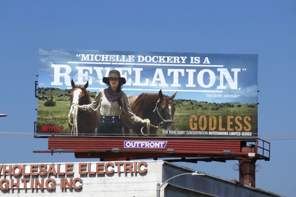 Michelle Dockery Godless 2018 Emmy FYC billboard