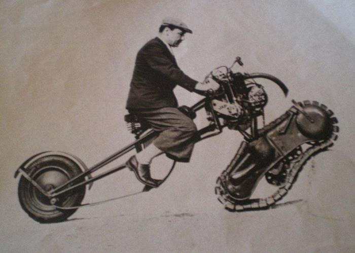 1937 French Military Tracked Motorcycle Mercier