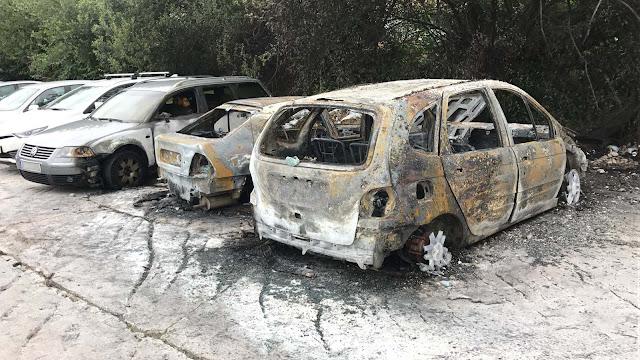 Los vehículos afectados por el fuego