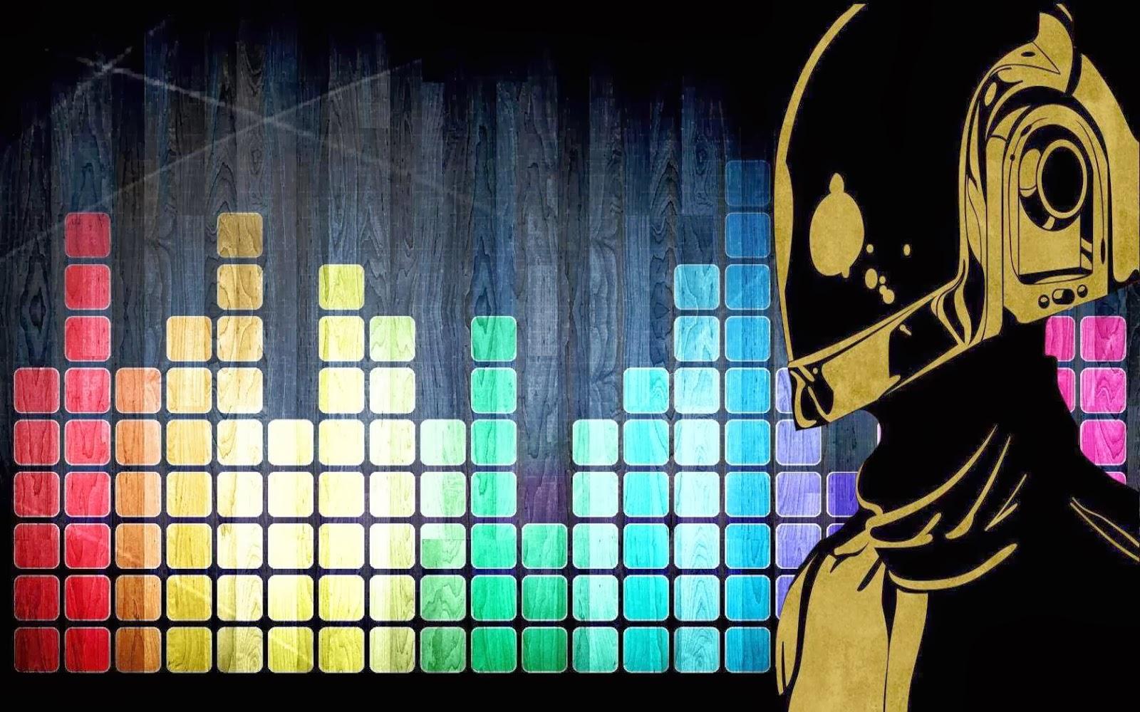 Fondo De Pantalla Abstracto Barras De Colores: Fondo De Pantalla Abstracto Barras Ecualizador Daft Punk