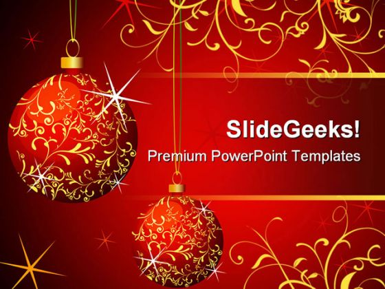 Wallpapers Club: Christmas Powerpoint Template Presentation