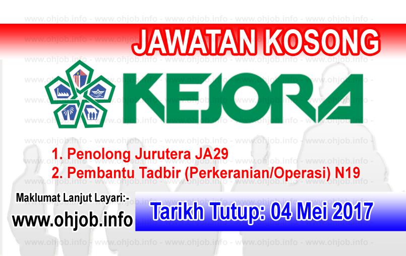 Jawatan Kerja Kosong KEJORA - Lembaga Kemajuan Johor Tenggara logo www.ohjob.info mei 2017