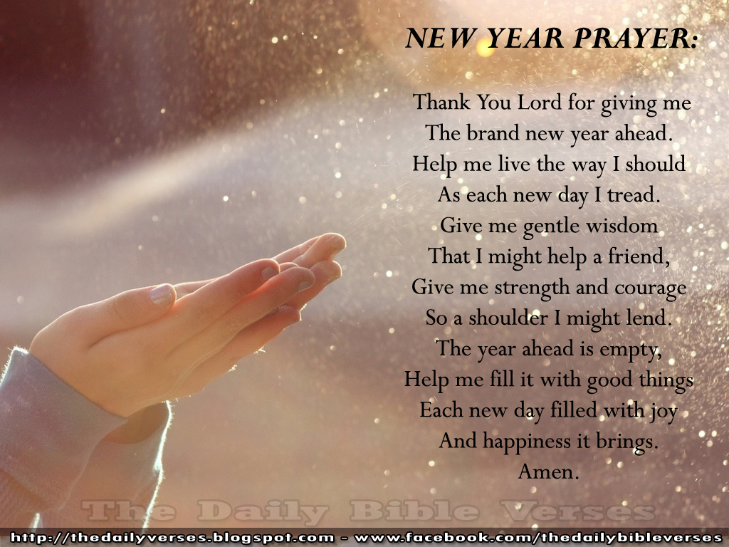 New Year Images With Bible Quotes: Daily Bible Verses: New Year Prayer