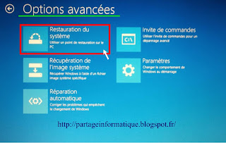 Restaurer Windows  Sans Point De Restauration