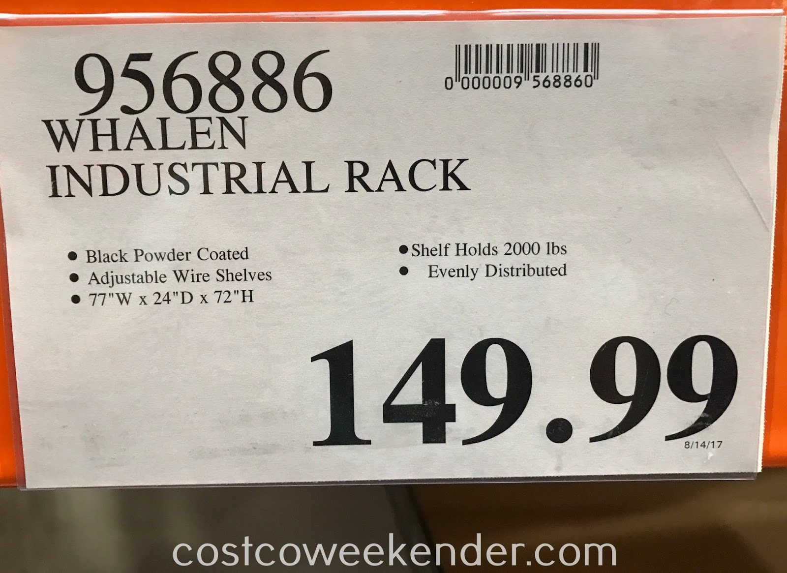 Deal for the Whalen Industrial Rack at Costco