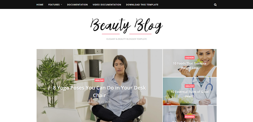Beauty Blog Free Blogger Template