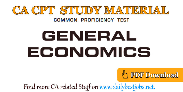 CA CPT General Economics PDF Free Download (Study Material)