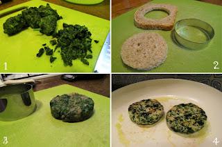 foto preparazione Ricetta hamburger di tacchino e spinaci per bambini