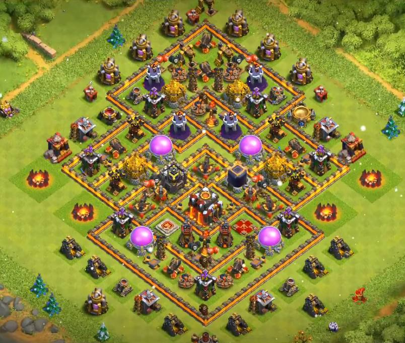 coc th10 farming base