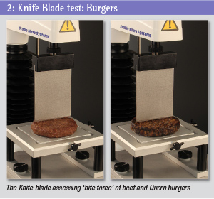 Knife blade test - burgers