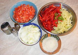retete cu legume proaspete de tara si orez, legume pentru gatit mancaruri de post, retete culinare, retete cu orez,