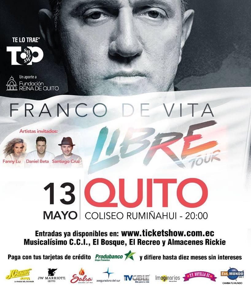 """La Inclusión De Ambientes Exóticos Se Mantiene En El: Top Shows Ofrece El Concierto De Franco De Vita """"Libre"""
