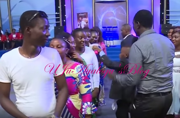 Nigerian Pastor Files Out Unmarried Youths, Orders Them To Choose Each Other For Marriage In Delta (Video)
