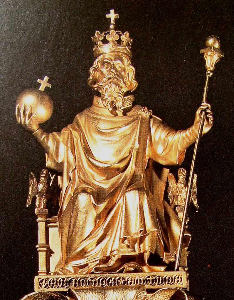 Carlos Magno no cetro de CarlosV