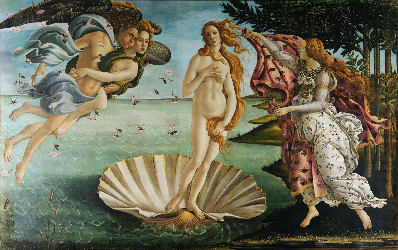 Nacimiento de Venus, de Botticelli