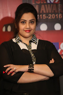 Tamil Actress Meena Latest Stills in Black Dress at TSR TV9 Awards Press Meet  0113.JPG