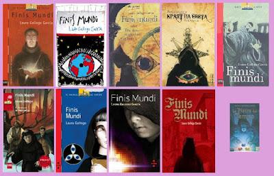 portadas de la novela juvenil de fantasía Finis mundi, de Laura Gallego