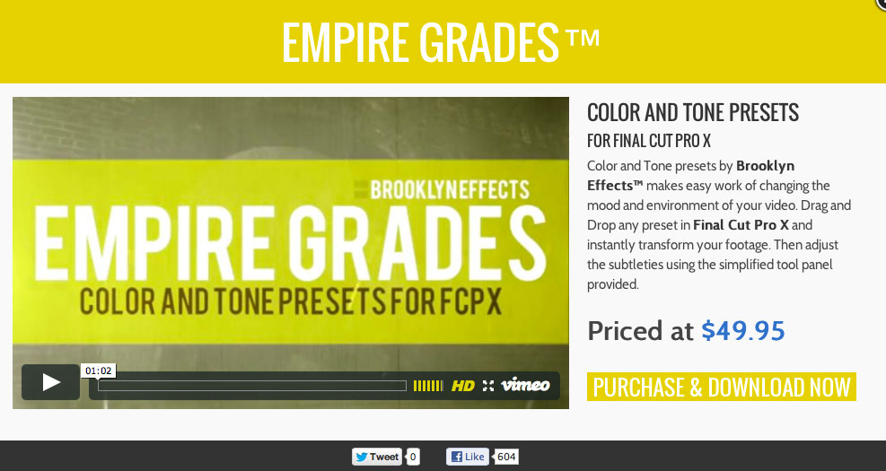Final Cut Pro X Plugins and Effects from Brooklyn Effects: 2013