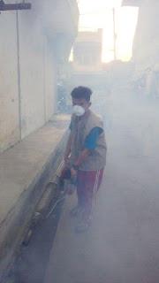 PKS Medan Perjuangan Fogging di Jalan Pelita 1