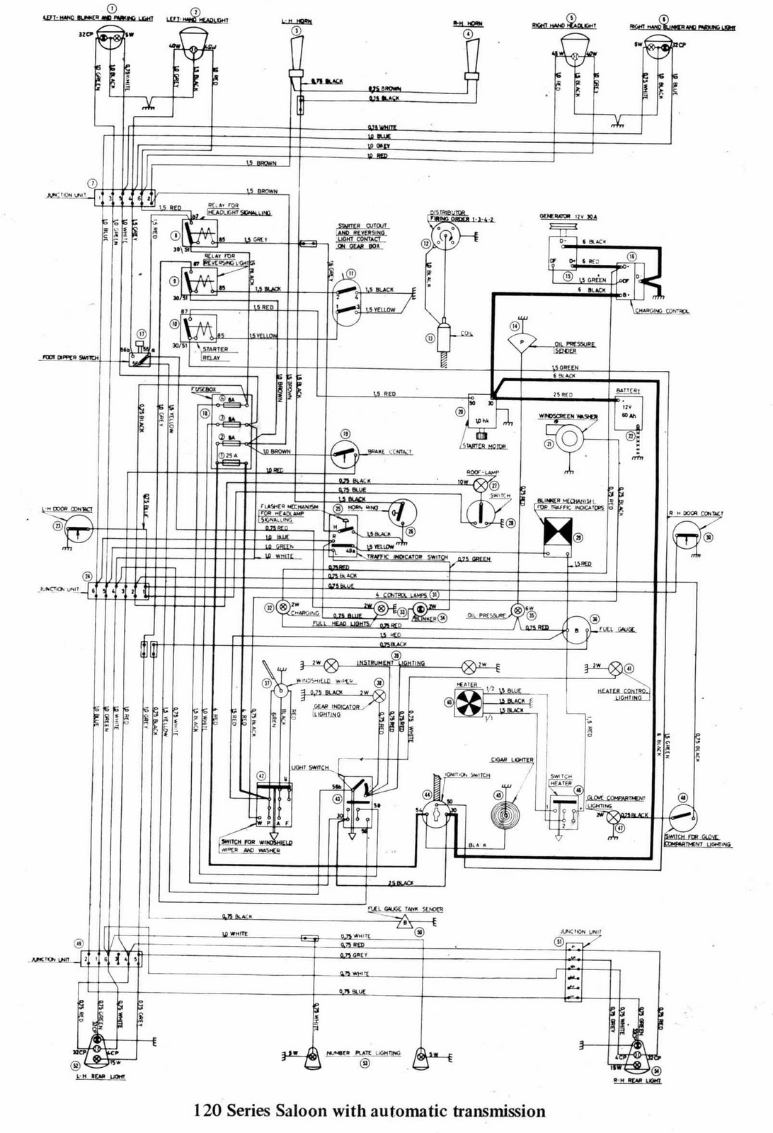 complete wiring diagrams of volvo 122s