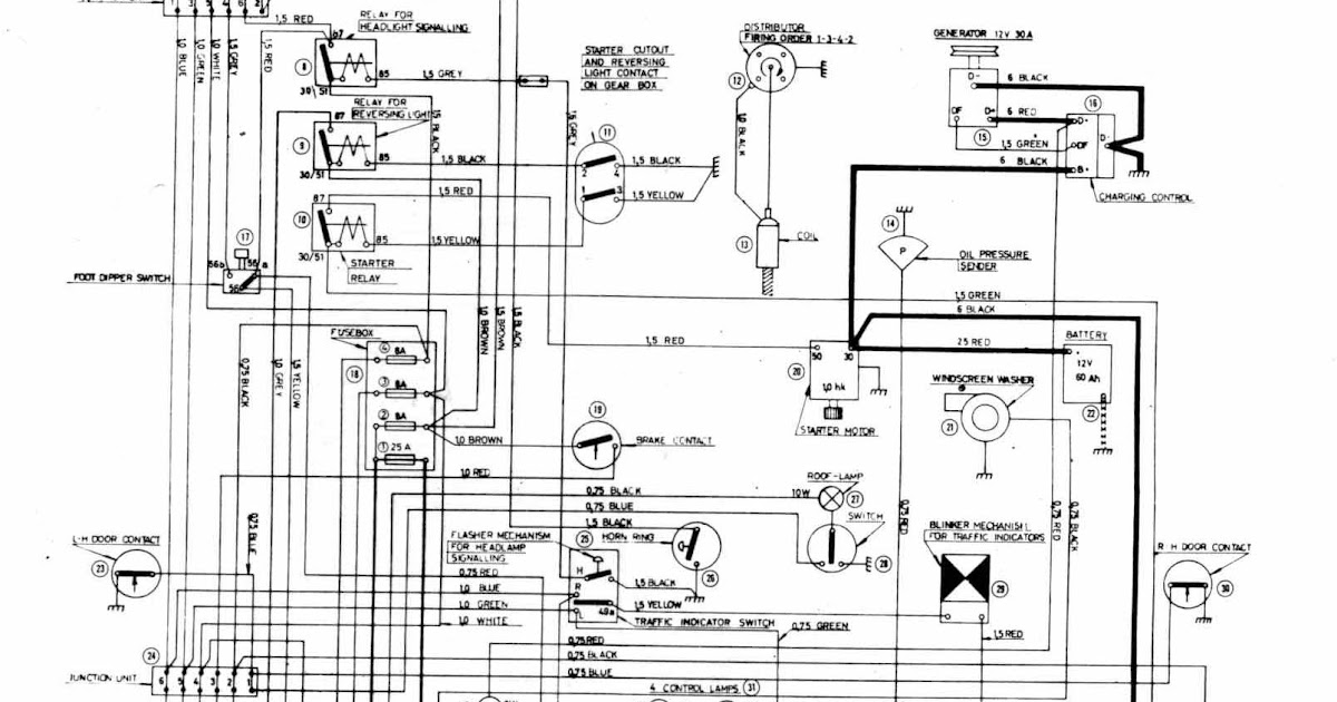 Complete Wiring Diagrams Of Volvo 122S | All about Wiring