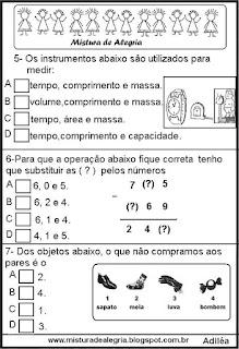 Simulado de matemática 5º ano