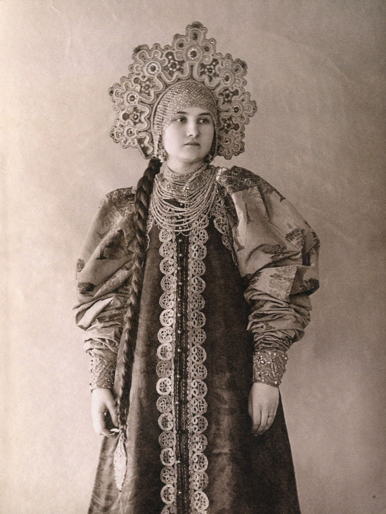 local style russian beauties of the 19th century in