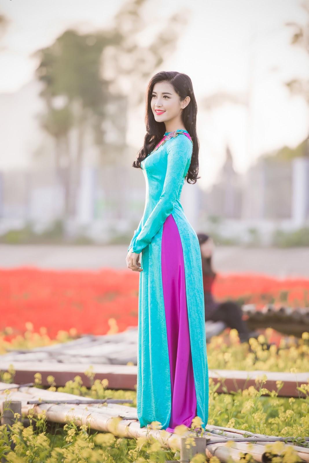 Á hậu Huyền My xinh đẹp rạng rỡ giữa hoa cỏ mùa Xuân @BaoBua: Duyên