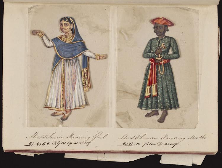 Mussilman dancing girl and Mussilman dancing master