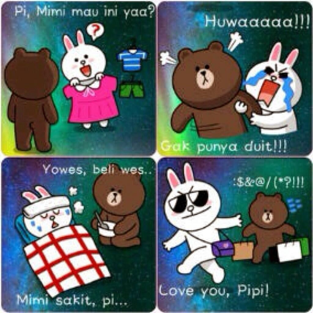Display Picture DP Bbm Line Lucu Brown And Cony Info Unik Lucu
