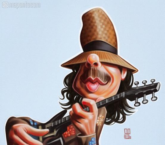 Carlos Santana por Miller Almeida