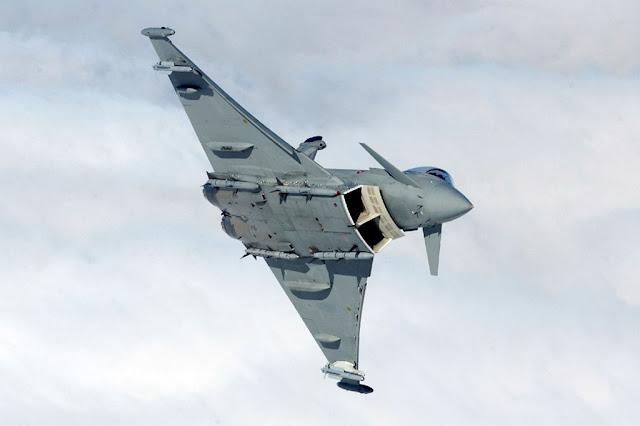Italian Typhoons intercept Portuguese aircraft