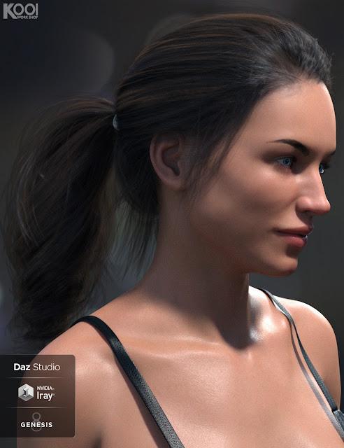Bonnie Hair for Genesis 8 Female
