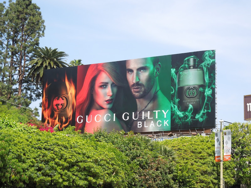 Gucci Guilty Black fragrance billboard