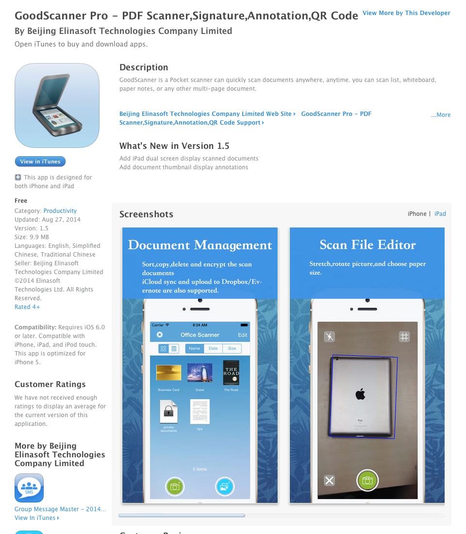 UCET Free iOS App Today: GoodScanner Pro - PDF Scanner