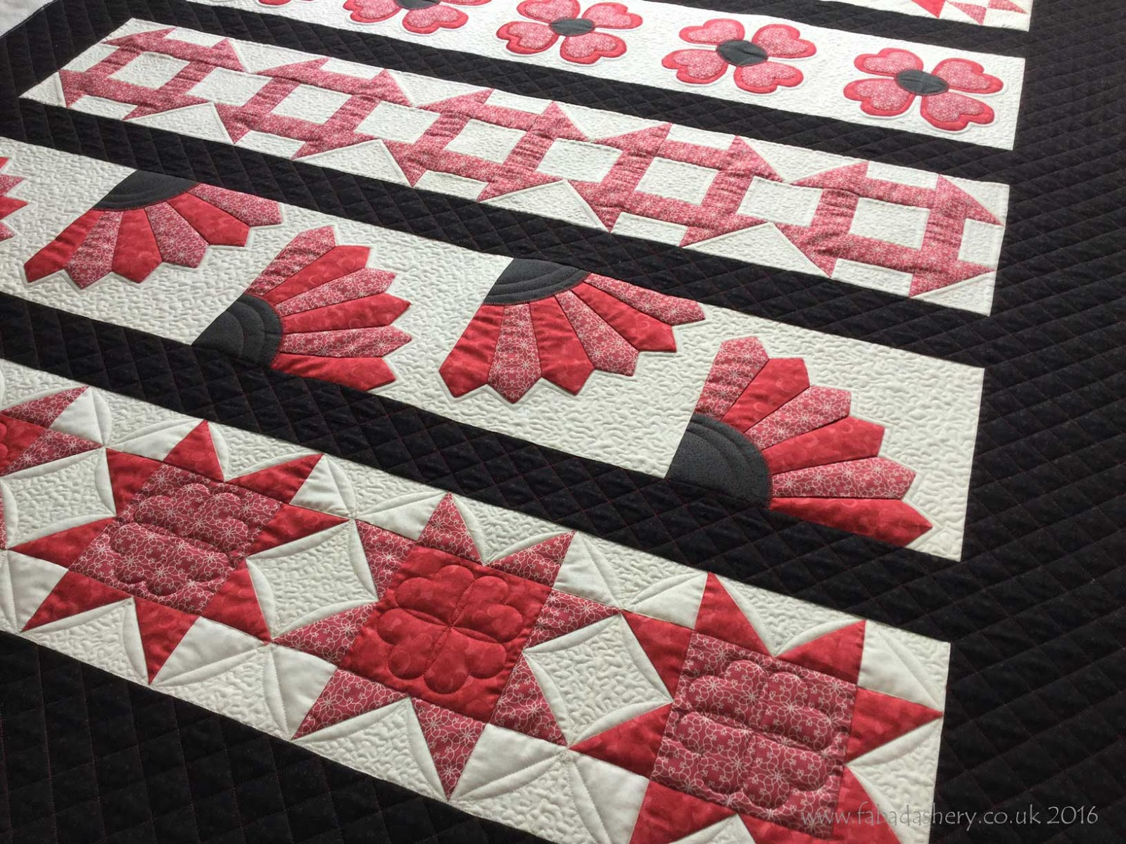 Fabadashery Longarm Quilting: Row by Row Sampler Quilt : long arm quilting uk - Adamdwight.com