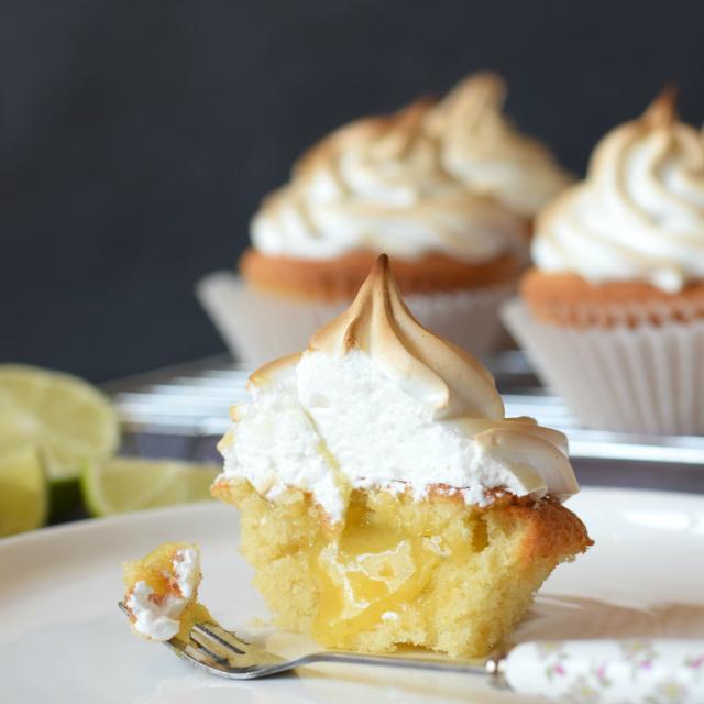 Lime Meringue Cupcakes