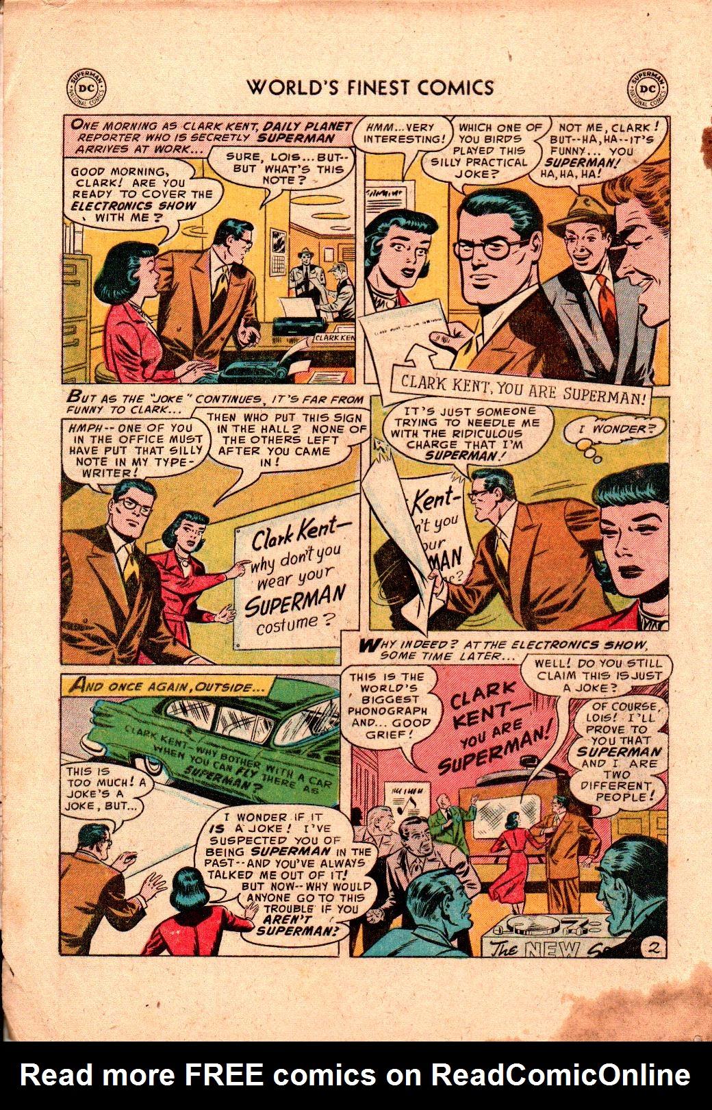 Read online World's Finest Comics comic -  Issue #78 - 4