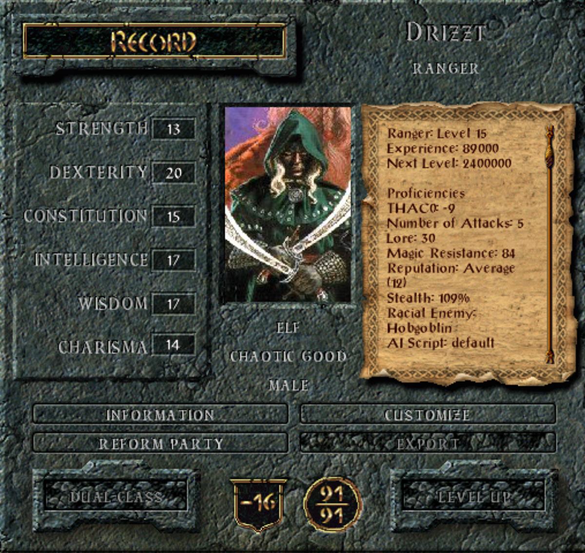 Lilura1 Baldur S Gate The Drizzt Saga